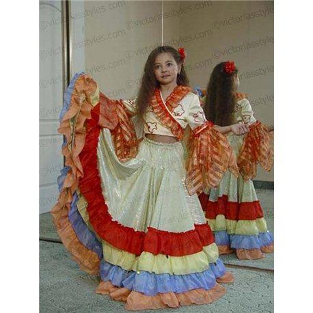 Детский карнавальный и маскарадный костюм Цыганка 0172