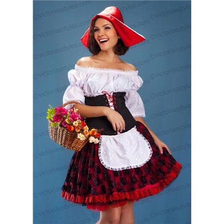 Costum de Carnaval pentru Adulti Scufița Roșie 1401, 1402