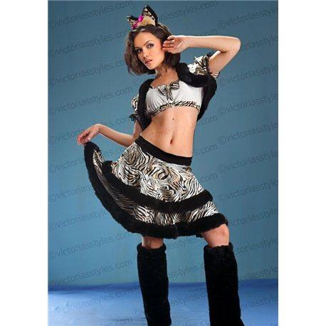 Costum de Carnaval pentru Adulți Tigroaică 1426