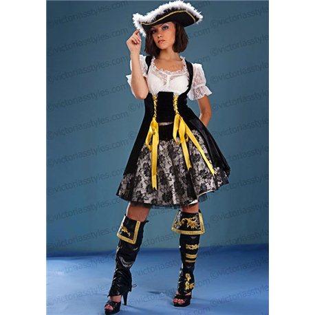Взрослый Карнавальный Костюм Пиратка бежевая 1399