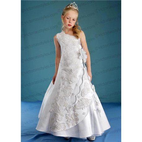 Rochiță pentru fetițe albă 1306