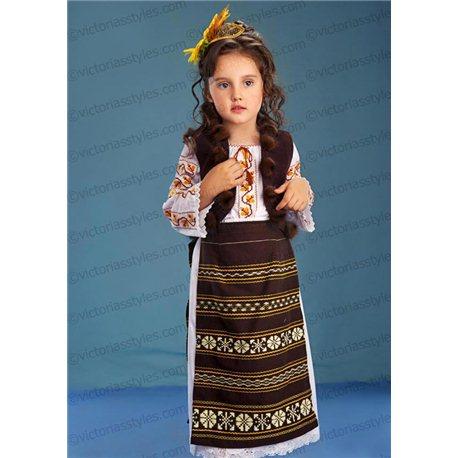 Молдавский Национальный Костюм для девочки 4420