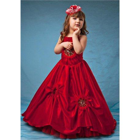 Эффектное красное платье 2309