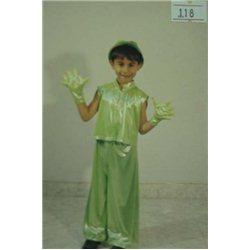Детский карнавальный и маскарадный костюм Кузнечик, Лягушонок 0118