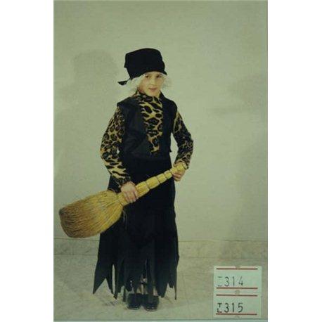 Детский карнавальный и маскарадный костюм Баба Яга 0314, 0315