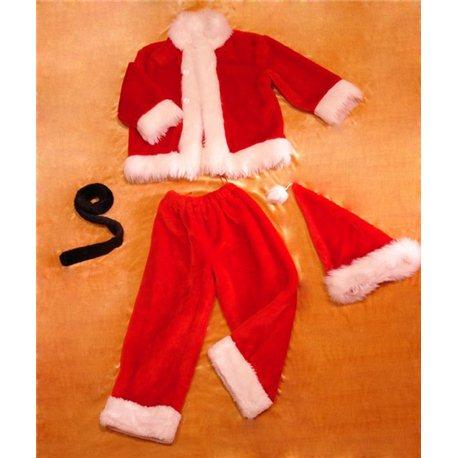 Детский карнавальный и маскарадный костюм Санта Клаус 0554