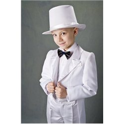Costum de Carnaval pentru copii Frac alb 4488