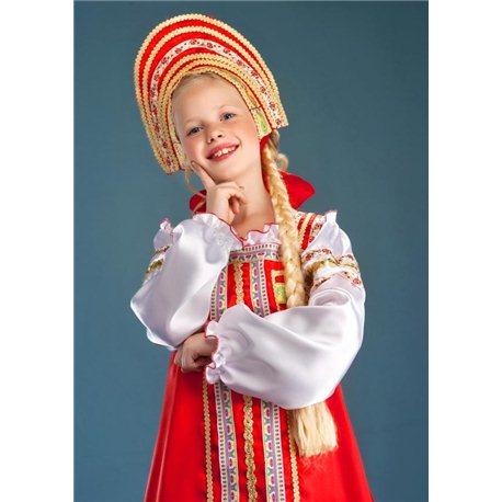 Карнавальный, маскарадный костюм Русская Красавица 4390