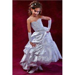 Шикарное белое праздничное платье 0956