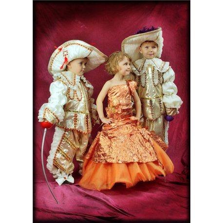 Детский карнавальный и маскарадный костюм Принца золотого цвета 2091, 1818