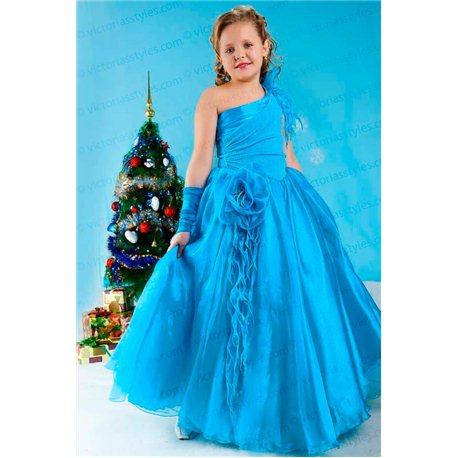 Роскошное бирюзовое бальное платье 3799