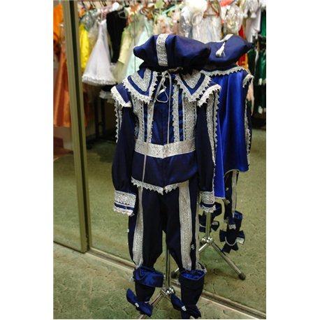 Детский карнавальный и маскарадный костюм Принца синего цвета из тафты 1799, 1798