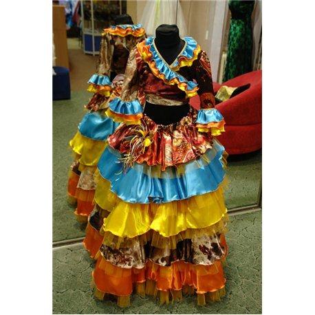 Детский карнавальный и маскарадный костюм Цыганка 1383